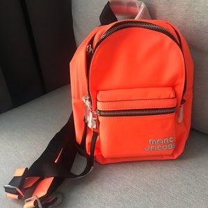 Marc Jacobs trek mini backpack in neon orange